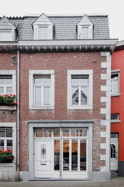 Pavéestraße Eupen Hausfront